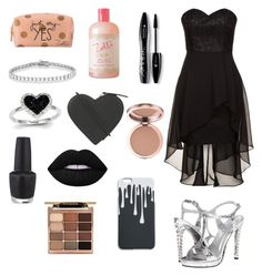 """""""Birthday Goth Princess"""" by demonlover2002 ❤ liked on Polyvore featuring Laona, Zoella Beauty, Allurez, Touch Ups, Lancôme, Kevin Jewelers, Christopher Kane, OPI and Stila"""
