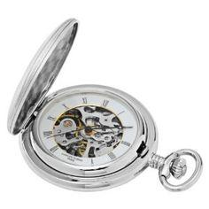 Charles-Hubert, Paris Satin Finish Mechanical Pocket Watch (Watch)
