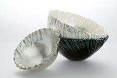 Pleated bowls, silver  photo: Camilla Hey