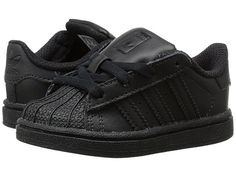 separation shoes d782a 0dfe8 adidas Originals Kids Superstar Foundation (Toddler) BlackBlackBlack -  Zappos.