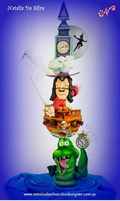 Terrific Peter Pan Cake made by Natalia Da Silva Carmona Disney Inspired Food, Disney Inspired Wedding, Gravity Defying Cake, Gravity Cake, Disney Desserts, Disney Cakes, Gorgeous Cakes, Amazing Cakes, Peter Pan Cakes