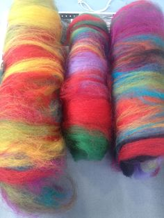 colours in hand-mixed yarn