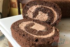 Airy cocoa biscuit roll with delicious cream Brownie Desserts, Brownie Recipes, Cake Recipes, Dessert Recipes, Birthday Brownies, Cheesecake, Homemade Brownies, Croatian Recipes, My Dessert