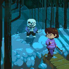 Comic Sans by Moonshen. undertale sans and Frisk meeting pixelated such detail Undertale Gif, Undertale Comic Funny, Undertale Pictures, Undertale Ships, Pixel Art, Arte 8 Bits, 8bit Art, Toby Fox, Underswap