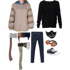 Ticci Toby Cosplay by alphavampgirl on Polyvore featuring Scoop, Wet Seal and ticcitoby