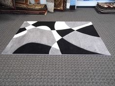 Black And Gray Area Rugs With Impressive Pattern For Home Interior Ideas Grey Chevron