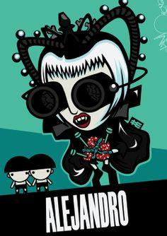 Lady Gaga / The Fame Mons†er by Da Morgue, via Behance
