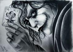 Joker Clown, Joker Art, Joker Card Tattoo, Joker Queen, Aztecas Art, Scary Drawings, Gangsta Tattoos, Portrait Background, Batman Artwork