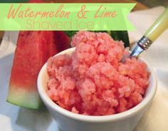 Watermelon & Lime Shaved Ice- so easy delicious and refreshing! Summer Recipes, Great Recipes, Favorite Recipes, Family Recipes, Shaved Ice Recipe, Healthy Snacks, Healthy Eating, Dehydrated Food, Breakfast Dessert
