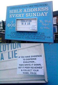 So, Evolution Is a Lie, Huh?