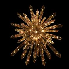 amazoncom 135 lighted crystal star shaped christmas tree topper clear lights - Lighted Christmas Tree Toppers