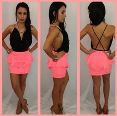 Open back, loving the pink