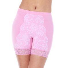 Rhonda Shear Control Lace Panty-Script Print-Small-NEW