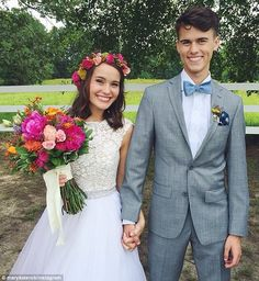 Just married: John Luke Robertson and his fiancée Mary Kate McEacharn tied the knot in Louisiana on Saturday