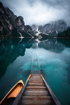 Morning Breeze - Morning mood at Lago Di Braies, Dolomites, Italy.
