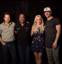 Kip Moore and Darius Rucker and Ashley Moore and Sam Hunt