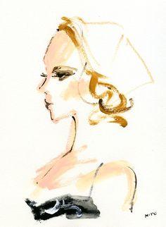 Kim Noorda for Ellery Resort 2011 Campaign ~ Miyuki Ohashi illustration