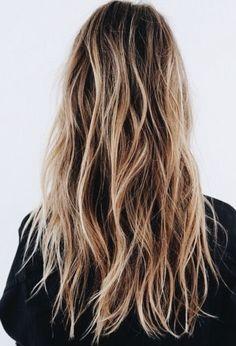 Blonde and brown. Balayage hair.