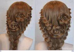 Braided Rose Hair so cool