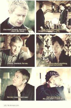 John and Sherlock's precious moments.
