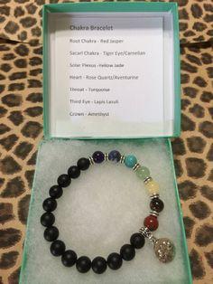 7 Chakra Meditation Bracelet Red JasperTiger Eye by JewelrybyJAM