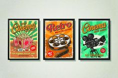 Retro Cinema Poster Retro Movie Night Retro Cinema Print   Etsy