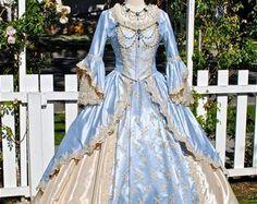 Champagne Sparkle 2 Tone Marie Antoinette Fantasy Costume Upscale Gown Custom