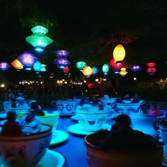 Disneyland  #teacups #disneyland #socal #happiness #ride #travellifestyle #mytravellibrary #liveoutdoors #welivetoexplore #outsideculture #thegreatoutdoors #pov #thegreatoutdoors #goprooftheday #getoutdoors #daringplanet #discoverglobe #babyfern #beautiful #welivetoexplore #happy #vacation #lights #spin #green #blue #purple by baby_fern_