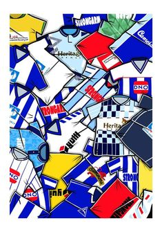 A design inspired by Hartlepool Utd retro football shirts. Prints available in sizes and each signed. Football Shirt Printing, Retro Football Shirts, Steven Knight, Handmade Items, Handmade Gifts, Marketing And Advertising, Printed Shirts, How To Draw Hands, Trending Outfits