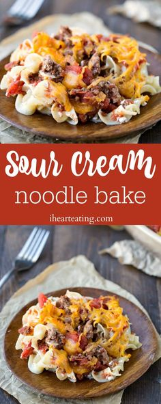 Sour Cream Noodle Bake Recipe - vintage beef casserole dinner recipe that has a few modern updates to make it lighter and healthier.
