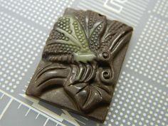 Carved Natural Ribbon Jasper Pendant - Handcarved Butterfly Jasper Amulet - Symbol of Transformation Amulet Pendant