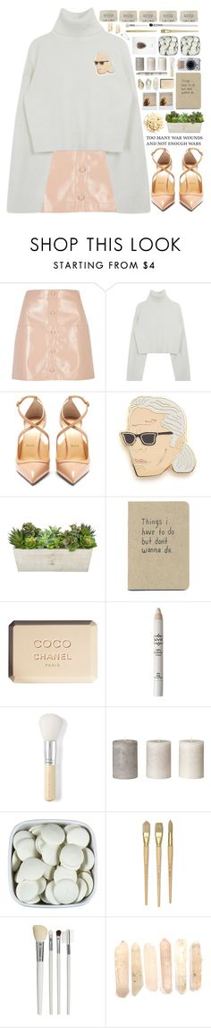 """*too empty to say something*"" by my-black-wings ❤ liked on Polyvore featuring River Island, Christian Louboutin, Georgia Perry, Chanel, NYX, Bare Escentuals, Cath Kidston and Uslu Airlines"