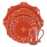 Juliska Jardins du Monde in Ruby! Gorgeous when mixed with the whitewash for Christmas!