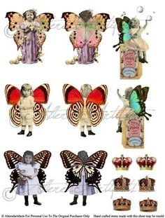 Fairy Front and Back Toy Theater Puppet Fairies Bottle Fairy Digital Printable Collage Sheet Instant Download by AlteredArtifacts on Etsy https://www.etsy.com/listing/225307458/fairy-front-and-back-toy-theater-puppet