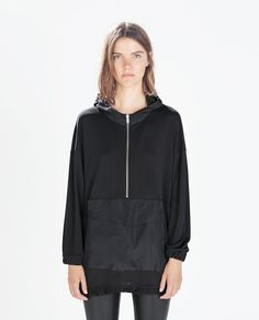 ZARA - NEW THIS WEEK - HOODED SWEATSHIRT WITH POUCH POCKET