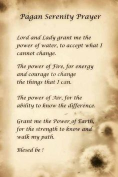 The Pagan Serenity prayer.