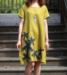 yellow red green flax Sexy Casual big Pleat  by colorstore2011, $49.99