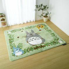Rug Carpet - - Totoro Chu Sho Kurosuke Nekobus - Ghibli - 2013 (new) Totoro Nursery, Casa Retro, Deco Studio, Studio Ghibli Movies, My Neighbor Totoro, My New Room, Rugs On Carpet, Stair Carpet, Vinyls