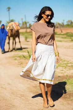 Atlas Mountain Fit and Flare Skirt