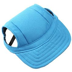 2fa122264e9 BUYITNOW Pet Sun Visor Hat with Ear Holes Adjustable Canvas Baseball Cap for  Small Dogs    Check this awesome product by going to the link at the image.