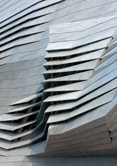 Dalian International Conference Center by Coop Himmelb(l)au, a contorted steel building in China with conference halls bursting through its facade. Architecture Paramétrique, Futuristic Architecture, Amazing Architecture, Contemporary Architecture, Futuristic Design, Futuristisches Design, Facade Design, Interior Design, Design Ideas
