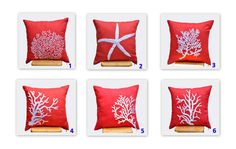 Starfish Pillow Cover ecorative Throw Pillow Cover by KainKain