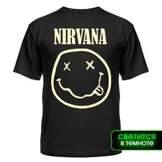 Мужская футболка Nirvana logo glow Магазин футболок