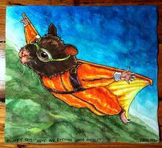 Daily Napkins: Skydiving Hamster in Wingsuit