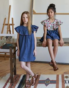Maya Fashion, Preteen Fashion, Young Fashion, Toddler Fashion, Kids Fashion, Back To School Outfits For Kids, Outfits For Teens, Simple Frocks, Fashion Design For Kids