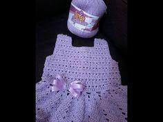 1 parte do vestido de bebê com pérolas Eliete Massi - YouTube