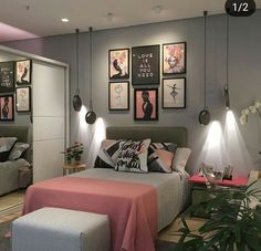 Room Design Bedroom, Girl Bedroom Designs, Room Ideas Bedroom, Home Room Design, Small Room Bedroom, Home Decor Bedroom, Grey Bedroom Colors, Bedroom Decor For Teen Girls, Stylish Bedroom