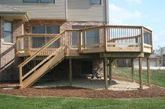 Cedar deck with metal balusters