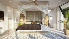 TROPICAL BEDROOM IDEAS – Not just for clothing theme, but also tropical bedroom gains momentum in today's interior design. This bedroom style brings s. White House Interior, Tropical Bedrooms, Basement House, Villa Design, Bedroom Styles, Bedroom Ideas, Staircase Design, Decoration, Inspiration