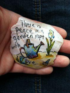 peace in a garden